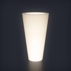 Светящееся кашпо Cone L
