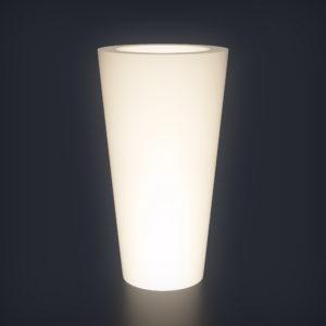 Светящееся кашпо Cone S