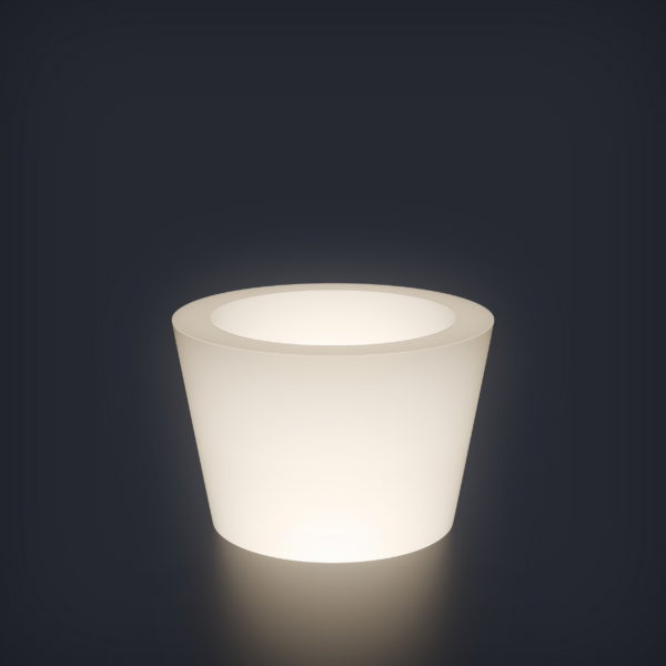 Светящееся кашпо Cone mini