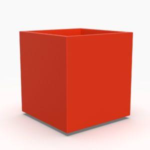 Кашпо PIAZZA S куб красный
