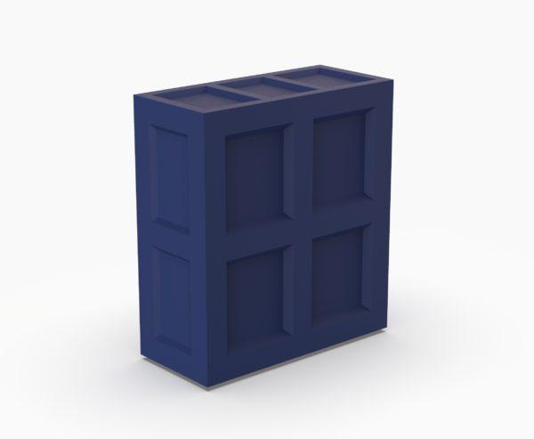Барная стойка Bar Прямой сегмент синий