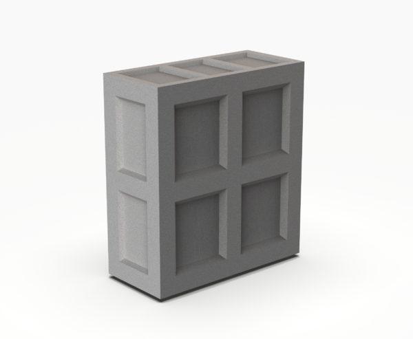 Барная стойка Bar Прямой сегмент серый