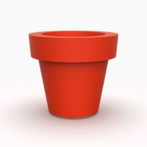 Кашпо BOACH 800 круглое красное