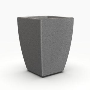 Кашпо LINEA 500 прямоугольное серое