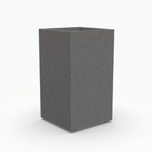 Кашпо VERTICAL 400 прямоугольное серое