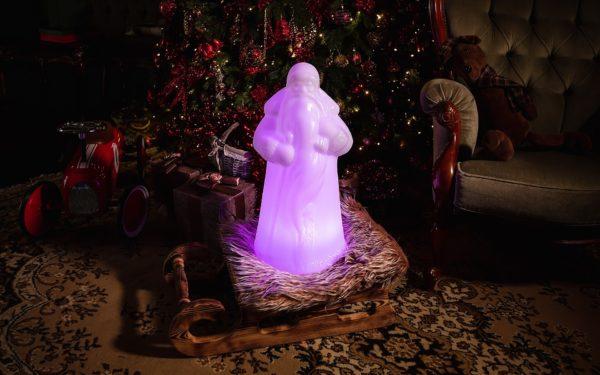 Световой Дед Мороз у елки