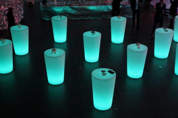 Светящиеся столы зеленые