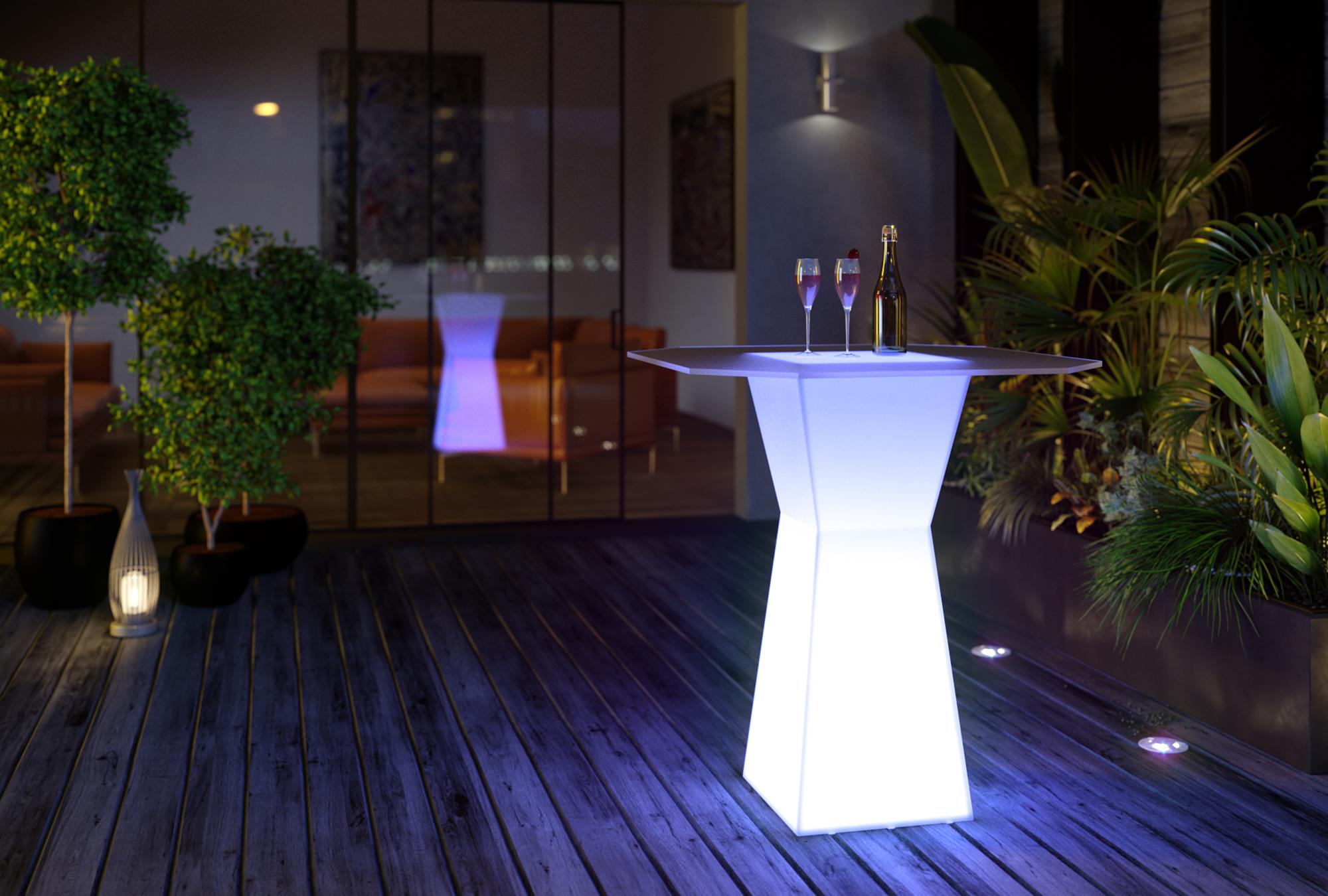 Барный столик призма с подсветкой