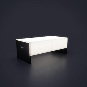 Светящаяся двойная скамейка 1200 мм