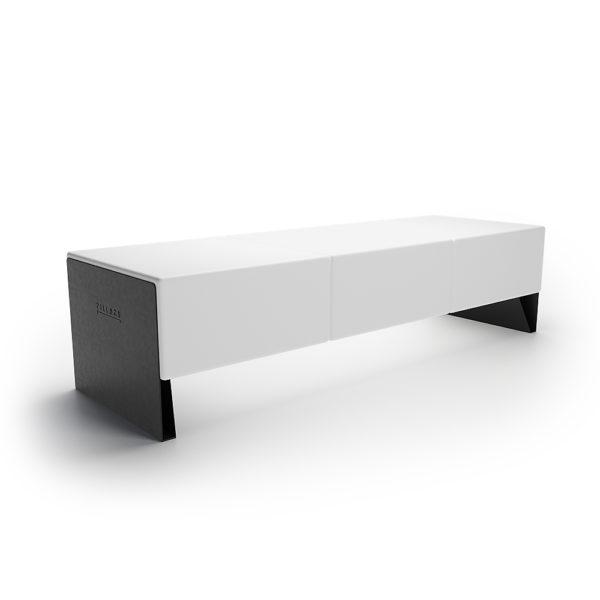 Двойная скамейка пластик металл