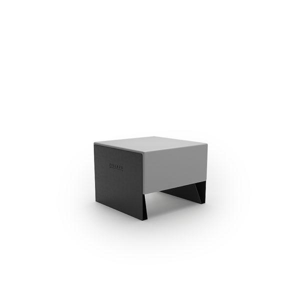 Серая одноместная скамейка 600 мм