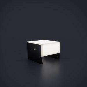 Одноместная светящаяся скамейка 600 мм