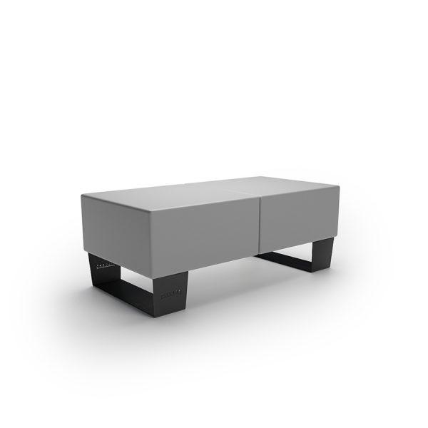 Серая двойная скамейка 1200 мм