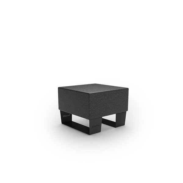 Черная одинарная скамейка 600 мм