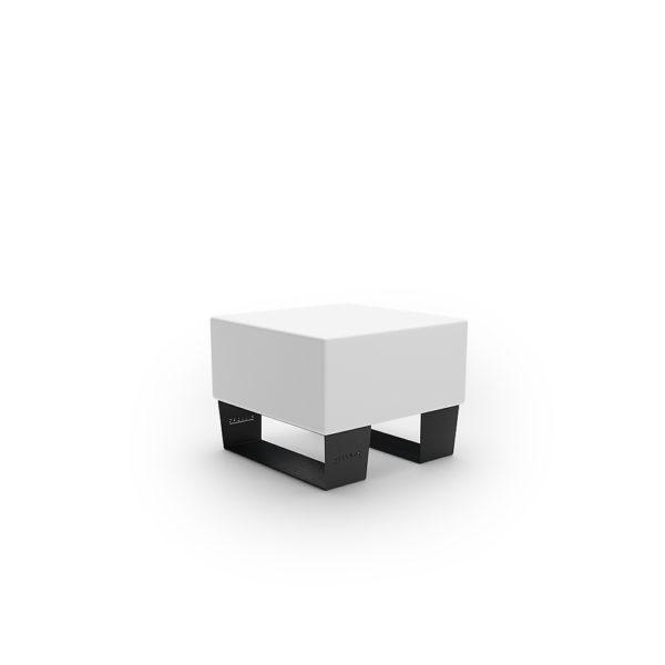 Белая одинарная скамейка 600 мм