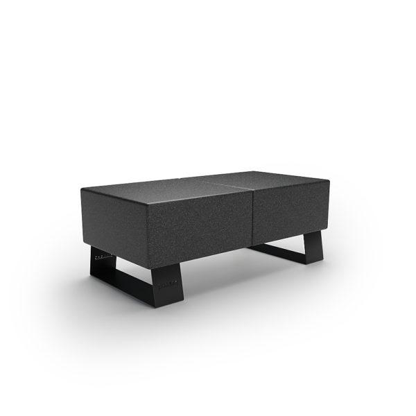 Черная скамейка двухместная для парка