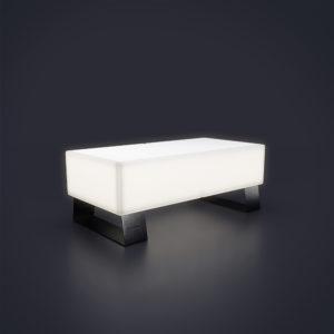 Светящаяся скамейка из пластика 2 местная