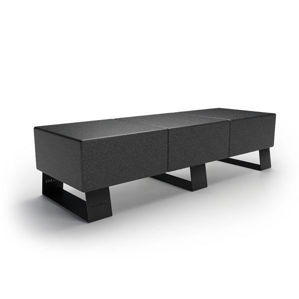 Черная скамейка для парка