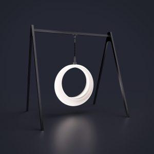 Светящиеся качели Ring на 1-й цепи с конструкцией