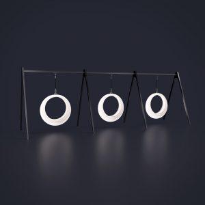 Световые качели Ring на 1-й цепи с 3 конструкциями