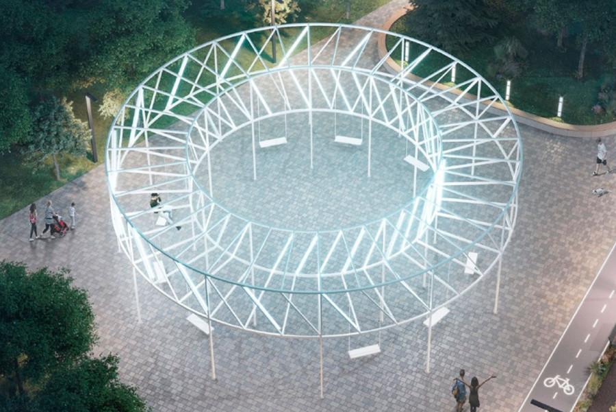 Световые качели Парк Света в Бибирево