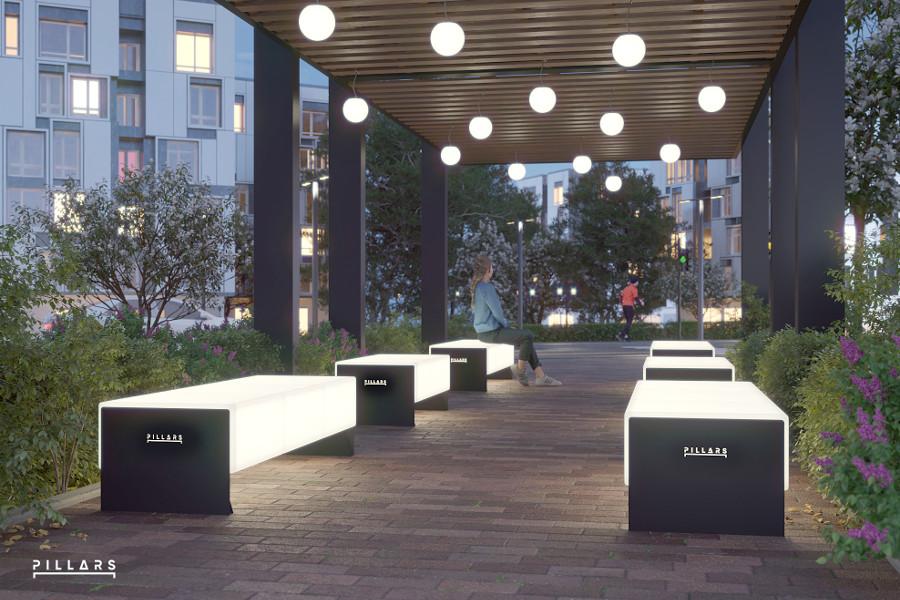 Светящиеся скамейки
