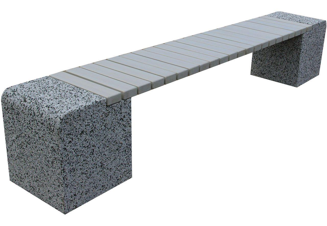 скамья бетон дерево