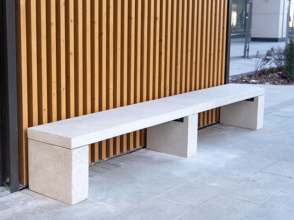 бетонная скамья